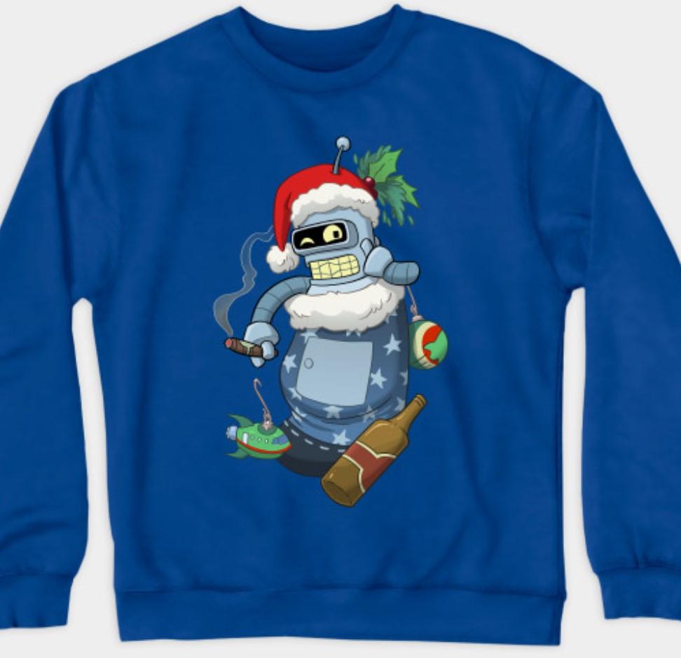 Futurama Bender sweatshirt.