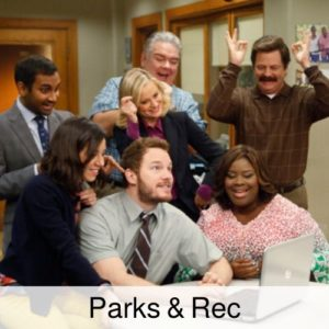 Parks and Rec drinking game.