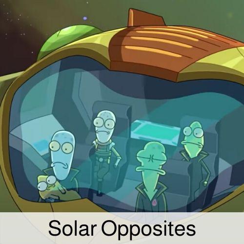 Solar Opposites drinking game.