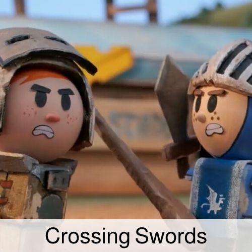 Crossing Swords drinking game.