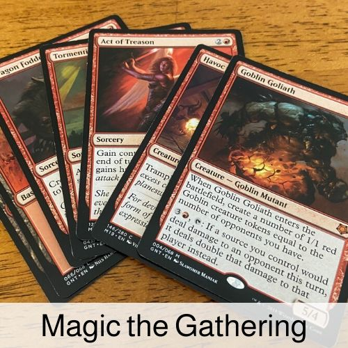 Magic the Gathering drinking game.