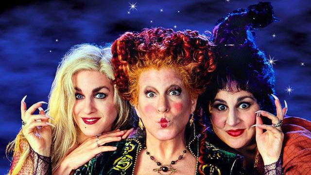 Witches Sarah, Winifred, and Mary from Disney's Hocus Pocus movie.