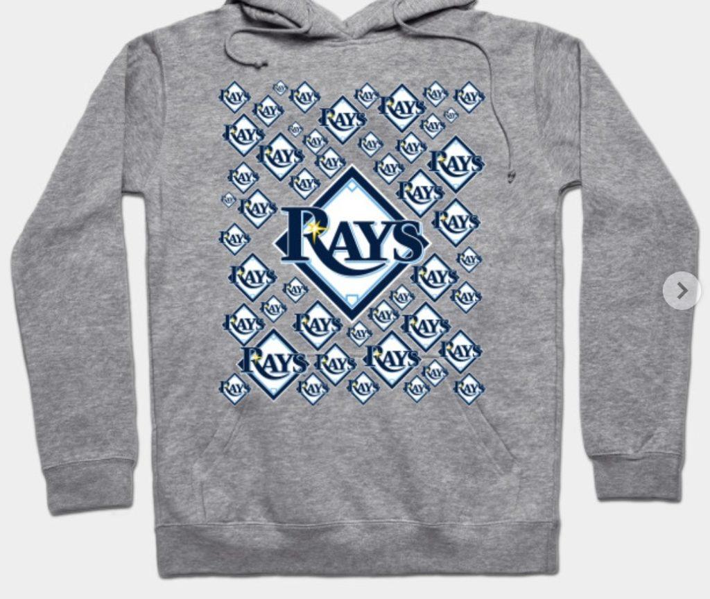 Tamba Bay Rays sweatshirt.