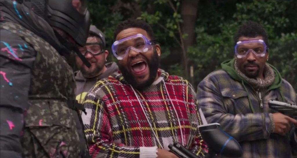 Anthony Anderson and Jay Oakerson in The Cabin with Bert Kreisher.