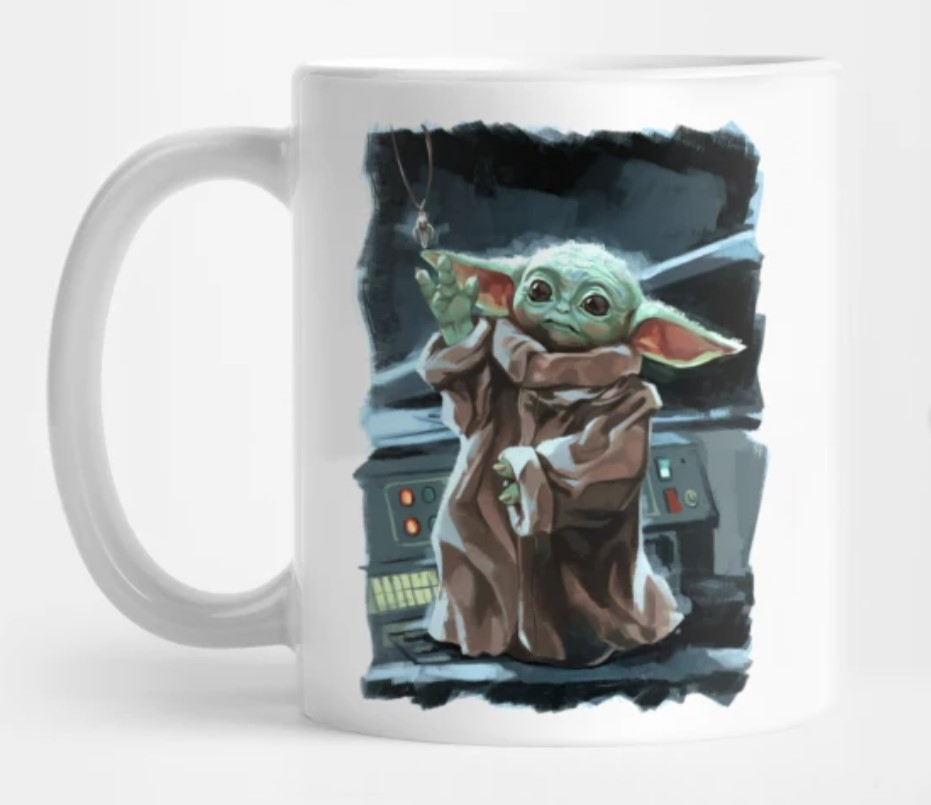 Baby Yoda mug.