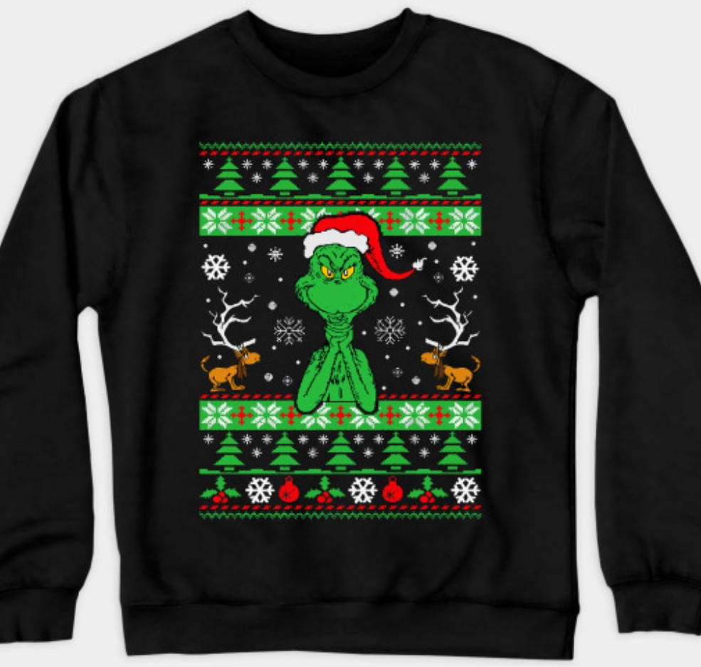 Grinch christmas sweater.