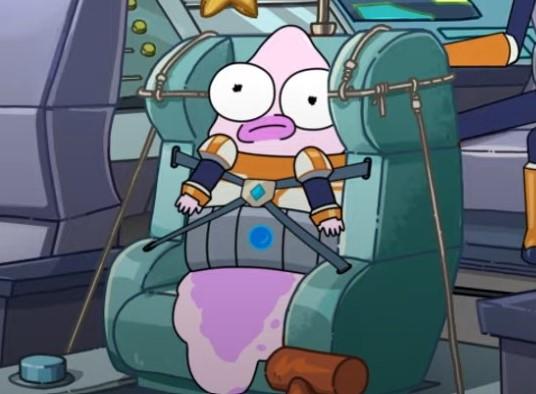 Pink pupa in solar opposites season 2.