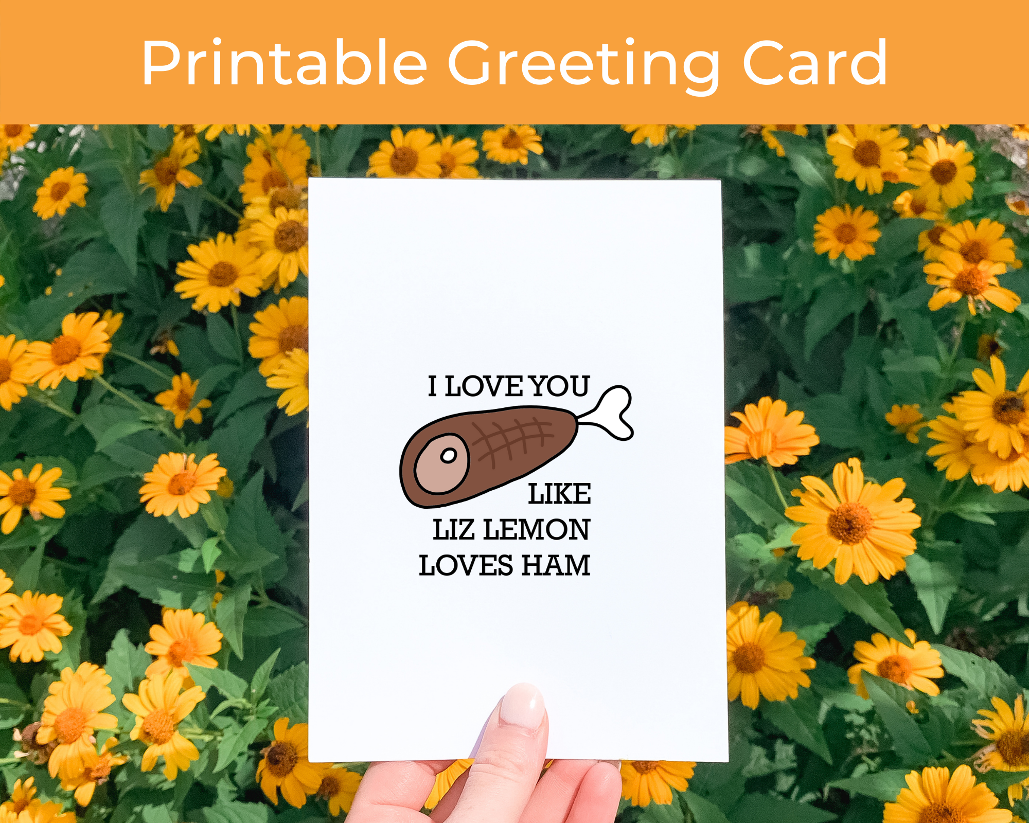 Printable Greeting Card  Inspired by Liz Lemon from 30 Rock