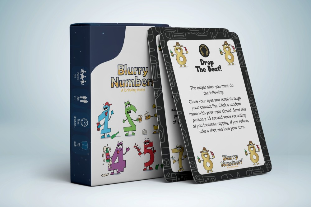 Blurry Numbers Drinking Card Game